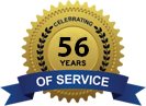 Celebrating 56 Years of Service