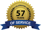 Celebrating 57 Years of Service