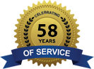 Celebrating 58 Years of Service