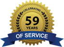 Celebrating 59 Years of Service